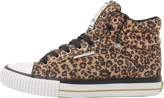 British Knights DEE - Dames - Sneakers Hoog - Luipaard print - Maat 36