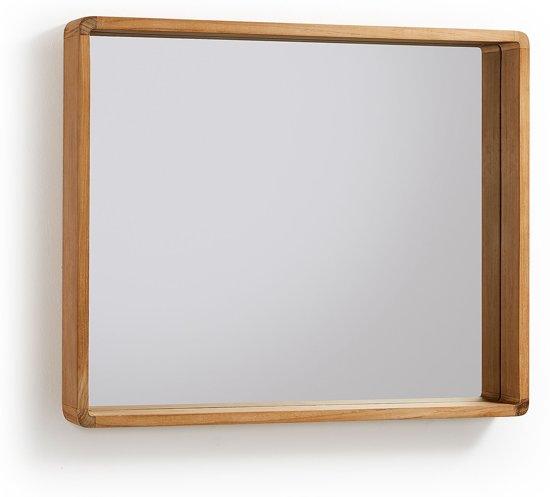 Welp bol.com | Kave Home - Rechthoekige spiegel Kuveni 80x65 cm teakhout OA-38