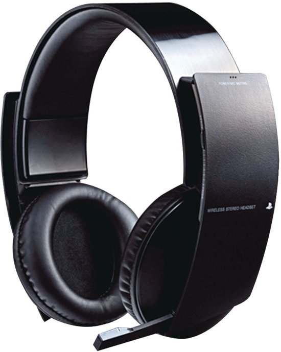 sony playstation draadloze stereo headset zwart. Black Bedroom Furniture Sets. Home Design Ideas