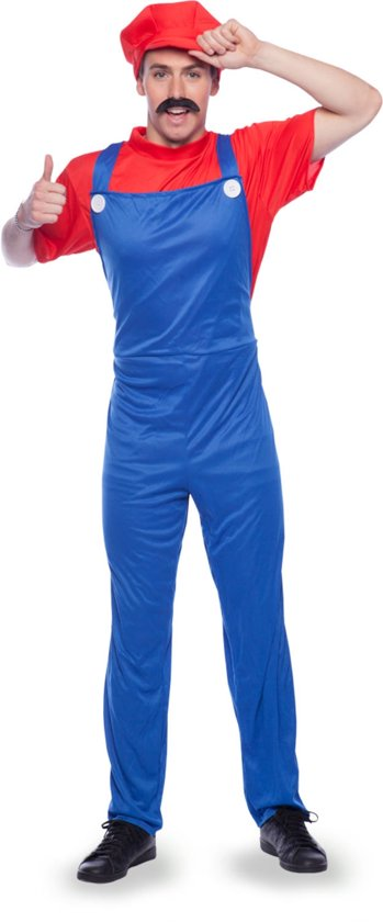 Super Loodgieter - Rood - Volwassenen - Verkleedkleding - Maat XL/XXL