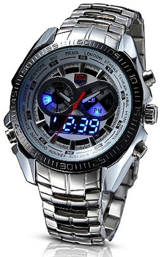 bol.com | TVG Navy Seals - Horloge - RVS - Zilverkleurig - Ø 45 mm