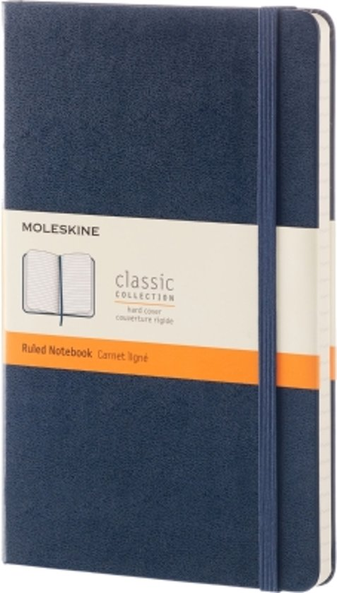 Moleskine Classic Notebook - Large - Ruled - Hard Cover - Sapphire Blue