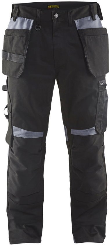 Blåkläder 1555-1860 Werkbroek met spijkerzakken Zwart/Grijs maat 50