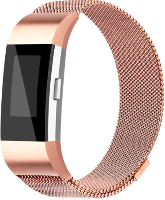 FitBit Charge 2 Milanese Bandje Rose Gold - Large