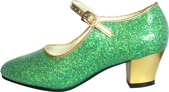 a3fb5dc6e84 Frozen Anna Prinsessen schoenen groen goud, Spaanse schoenen - maat 35  (binnenmaat 22,
