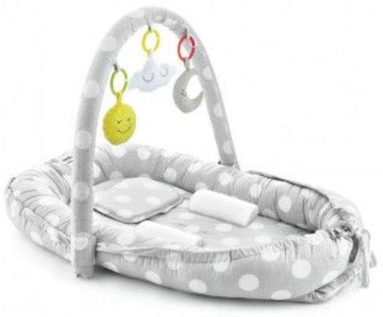 Babynestje Babyjem Luxe Grey Dots