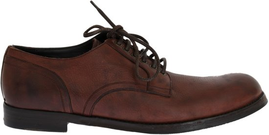 DOLCE & GABBANA BROWN LEATHER LACEUP FORMAL SHOES