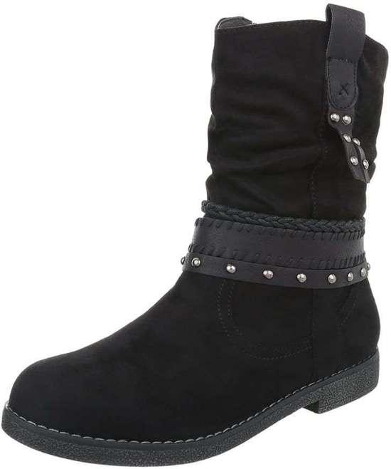 3c25371cb32 bol.com | Zwarte dames laarzen maat 37