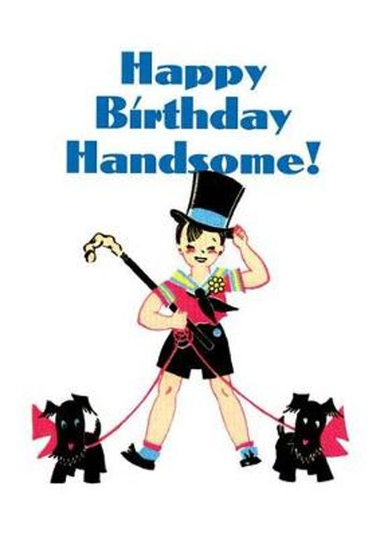 Boy in Top Hat - Birthday Greeting Card