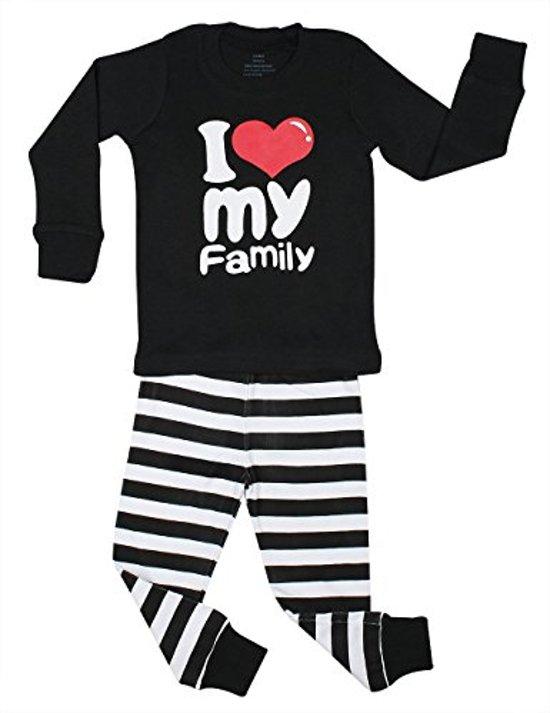 Bolcom El Ow El Meisjes I Love My Family Pyjama Set 100 Katoen