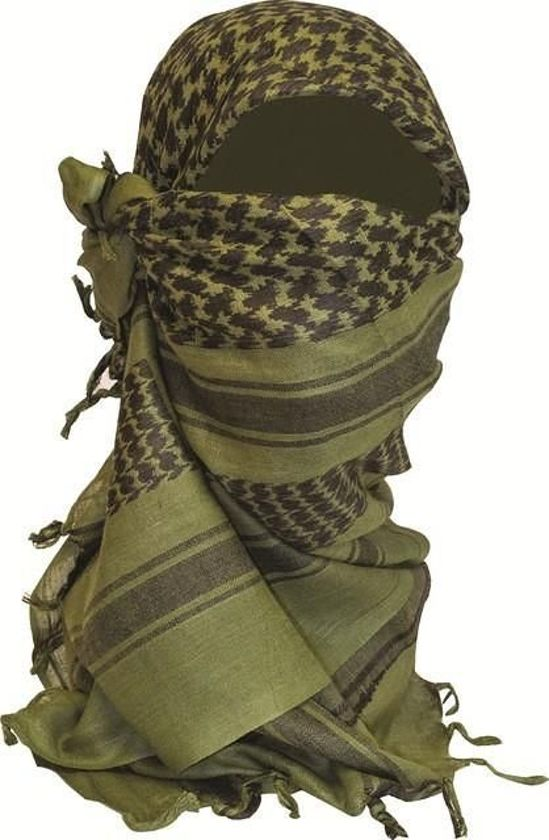 Shemagh Sjaal - 110 x 115 cm - olive / olijf groen