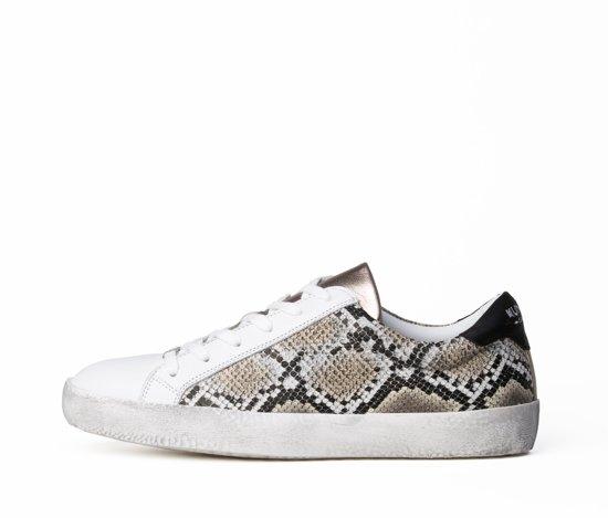 KUNOKA Alex 2.2a snake Sneakers Dames Wit Slangenprint