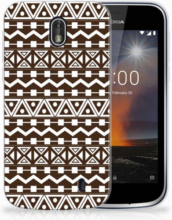 Nokia 1 Uniek TPU Hoesje Aztec Brown