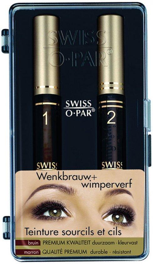 Swiss O Wenkbrauw & Wimperverf - Bruin