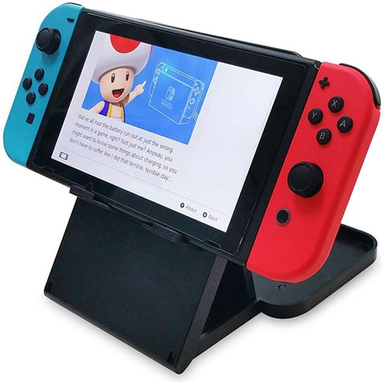 Shop4 - Nintendo Switch - Gaming Standaard Playstand Zwart kopen