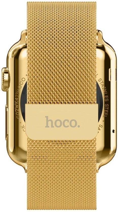 hoco Milanees Roestvrij-staal horlogebandje Apple Watch 38mm - Goud