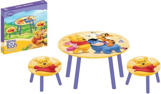 Winnie the Pooh Ronde - Tafel - Multi - Met 2 krukjes