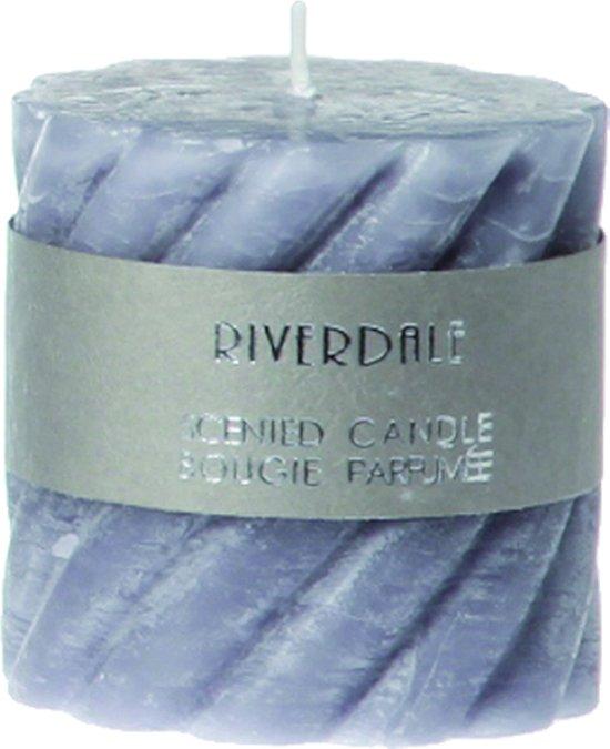 Riverdale Swirl - Geurkaars - Grijs - 7.5x7.5cm