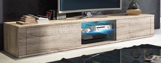 bol.com | TV meubel TV kast Elegance met LED verlichting licht eiken