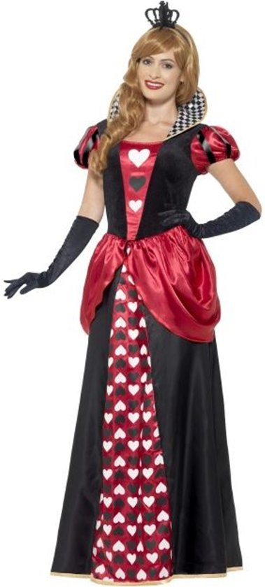 Royal Red Queen Costume Red with Dress & Crown