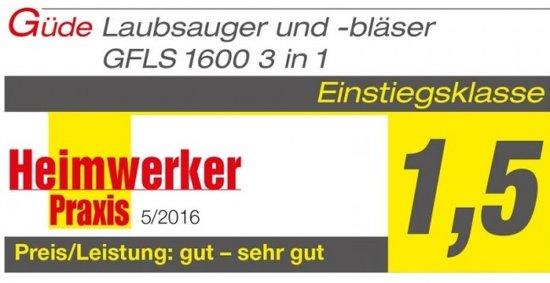 Güde GFLS 1600 3 in 1 bladzuiger