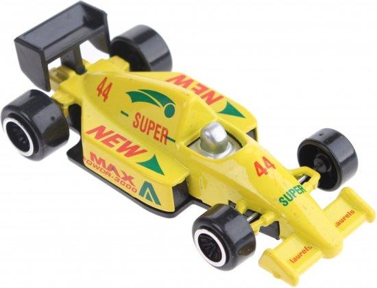 Johntoy Raceauto Max Geel 7,5 Cm