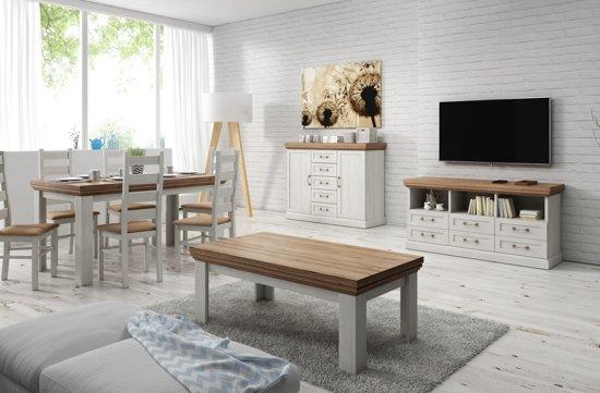 Interieur Woonkamer Eiken : Bol meubella complete woonkamer river wit licht eiken