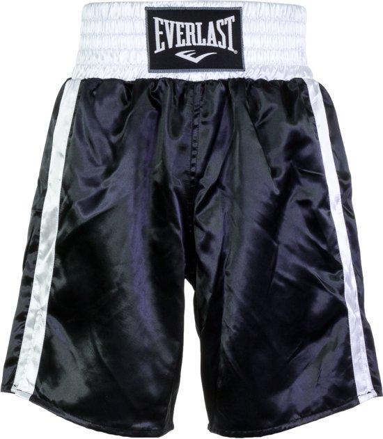 Everlast Pro Boxing Short Boksbroek - Maat S  - Unisex - zwart/wit