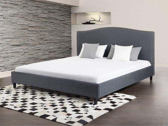 bol bed grijs tweepersoonsbed 160x200 cm gestoffeerd bed