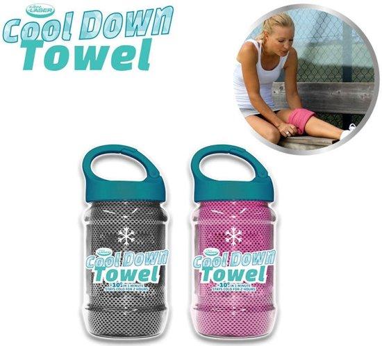 Bol Com Cool Down Towel Grey Pink Sport Handdoek