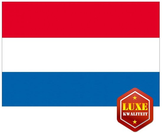 Luxe vlag Nederland 100 x 150