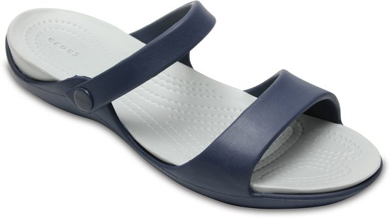 edd03c99d3cc50 Crocs Cleo V Slippers - Maat 39 40 - Vrouwen - navy grijs