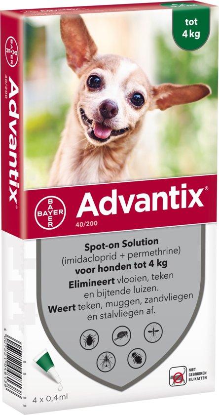 Advantix anti-vlooienmiddel 4 pipetten voor volwassene honden