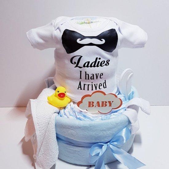 Luiertaart Romper Jongen | Kraamcadeau | Kraampakket | Baby Cadeau