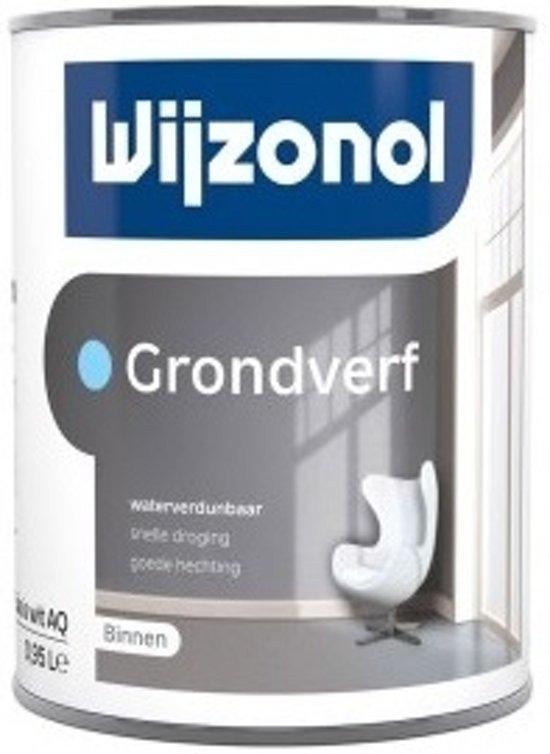Wijzonol Grondverf Waterverdunbaar RAL7021 Zwartgrijs 1 Liter