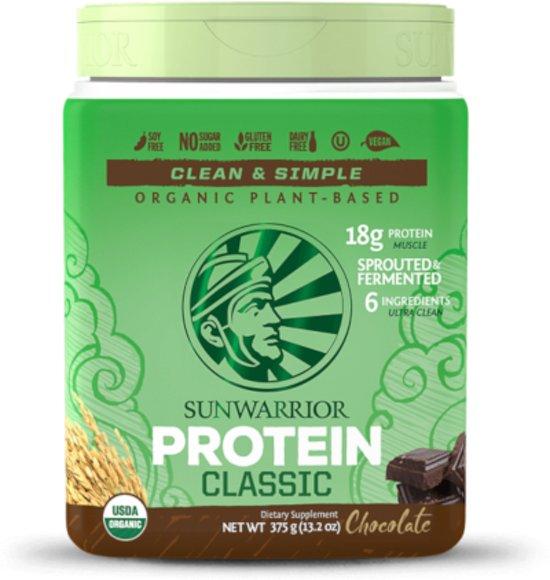 Sunwarrior Classic Proteïne Chocolade - 375 gram