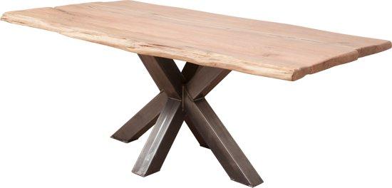 Boomstamtafel Pisa - 4/6 Persoons - Eettafel - Matrix-poot - Eetkamertafel - 180x100 cm