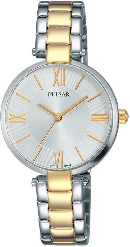 Pulsar PH8240X1 horloge dames - zilver en goud - edelstaal