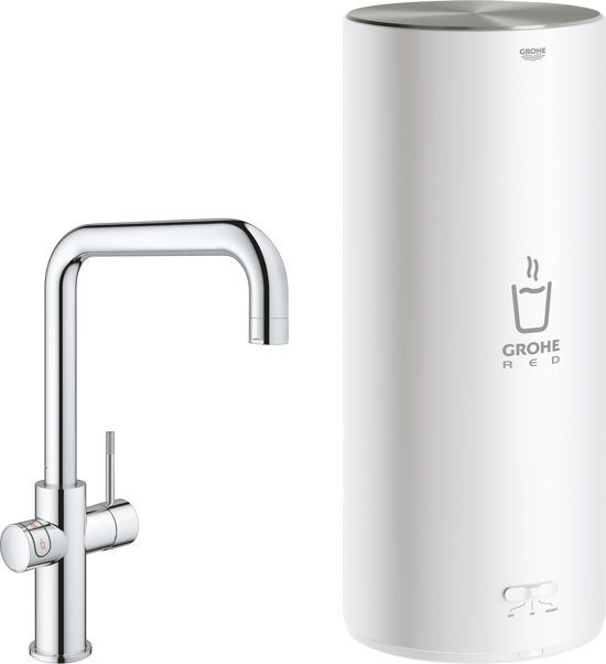 GROHE Red New Duo Kokend water kraan - Keukenkraan + L-size boiler - U-Uitloop - Chroom - 30144001
