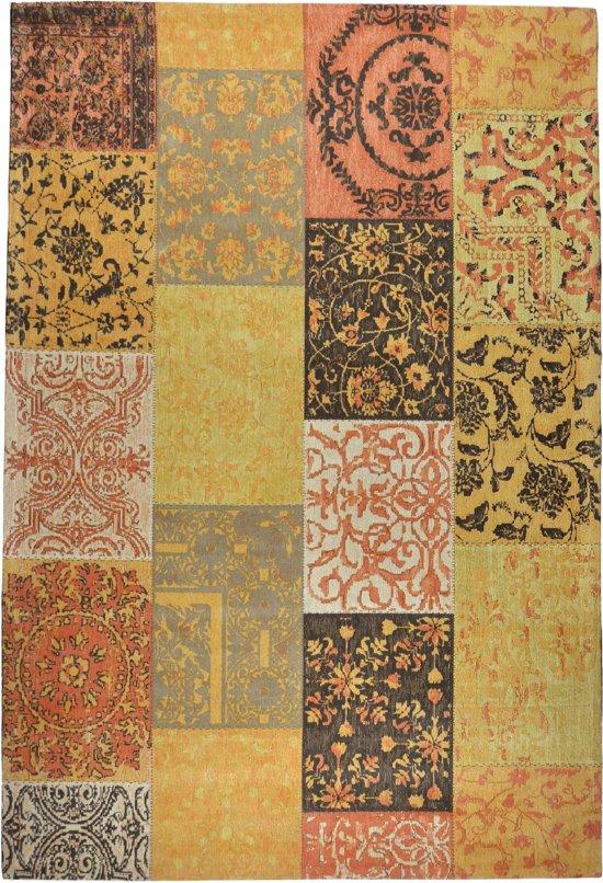 Vintage patch - tapijt of vloerkleed - Dounia oker 240x160cm
