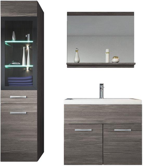 Badkamerkastje Met Verlichting : Bol badplaats badkamermeubel rio cm bodega met spiegel