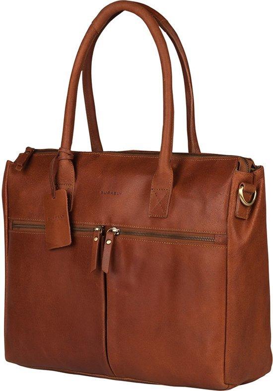 Business Laptoptas Cognac Burkely Shopper 15
