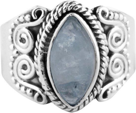 Jewelryz Haele Edelsteen Ring | 925 sterling zilver met maansteen | Maat 18