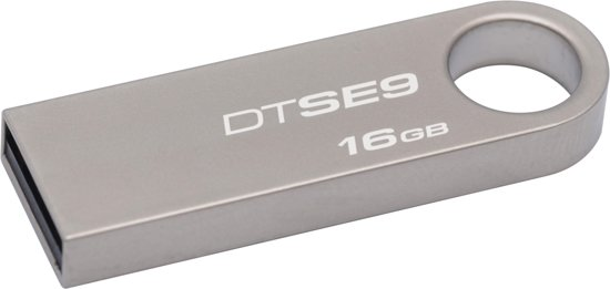 Kingston DataTraveler SE9 - USB-Stick - 16GB - Zilver