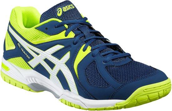 Asics Gel-Hunter 3 Indoorschoenen Heren Sportschoenen - Maat 42.5 - Mannen - blauw/geel/wit