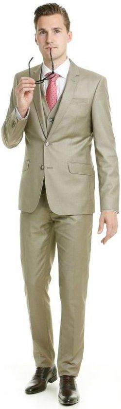 Henk ter Horst 3-delig kostuum beige_56, maat 56