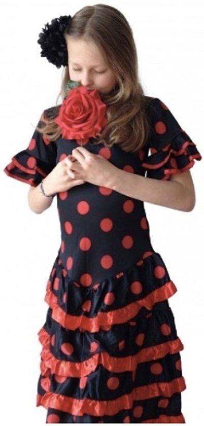 41fc75ffb7d99d Spaanse jurk - Flamenco - Deluxe - zwart rood - maat 104 110 (6