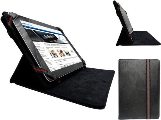 Universele 7 inch Premium Cover met 360 graden draaistand, zwart , merk i12Cover in Weerwille