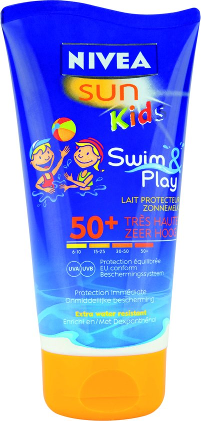 NIVEA Kids Swim And Play SPF50 - 150 ml - Zonnebrand crème
