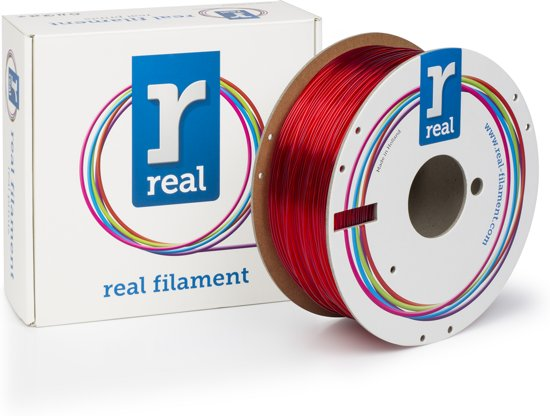 REAL Filament PETG transparant rood 1.75mm (1kg)